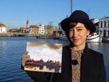 20世紀最大の絵画贋作事件を追ってオランダへ! フェルメール「デルフトの眺望」が描かれた場所を訪れた滝川クリステル (C)BS朝日