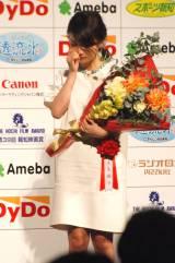ボロボロと涙をこぼす大島優子 (C)ORICON NewS inc.