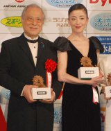 『第39回 報知映画賞』表彰式に出席した(左から)津川雅彦、宮沢りえ (C)ORICON NewS inc.