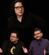 Eテレで2015年1月8日スタートの新番組『岩井俊二のMOVIIE ラボ』第1回・第2回ゲストは樋口真嗣氏(下段左)と庵野秀明氏(下段右)(C)NHK