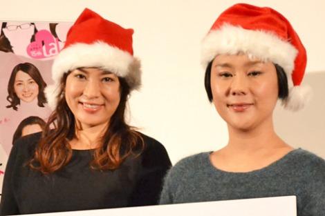 『わたプロ』クリスマス会に参加した(左から)鈴木砂羽、ジェーン・スー (C)oricon ME inc.