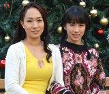 女性同士で来春挙式する一ノ瀬文香(左)と杉森茜が2ショット会見 (C)ORICON NewS inc.