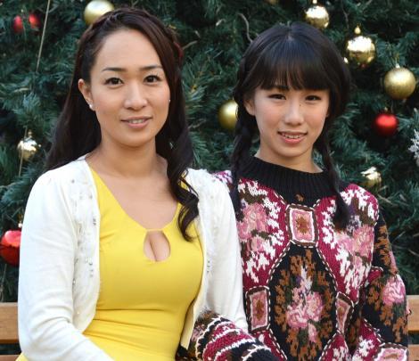 サムネイル 女性同士で来春挙式する一ノ瀬文香(左)と杉森茜が2ショット会見 (C)ORICON NewS inc.