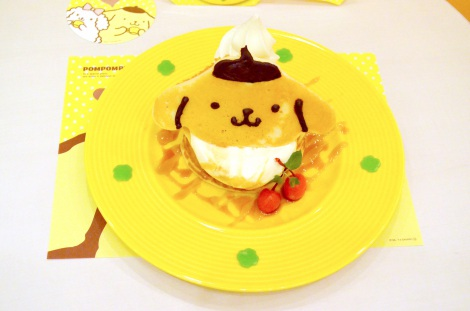 『ポムポムプリンカフェ』(常設カフェ@CUTE CUBE HARAJUKU 3F) (C)1996, 2014 SANRIO CO., LTD. APPROVAL NO.S552726