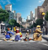 英国が誇る世界的ミュージシャンたちをほうふつとさせるビジュアル。『映画 ひつじのショーン〜バック・トゥ・ザ・ホーム〜』2015年夏公開(C) 2014 Aardman Animations Limited and Studiocanal S.A.
