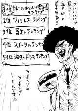 """田中光がORICON-STYLEの為だけに描いてくれた""""ランキング漫画"""""""
