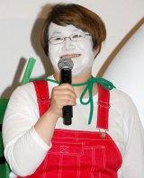 白塗り姿で「ベイマックスじゃねーよ!」とツッコむ近藤春菜 (C)ORICON NewS inc.