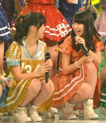 『第65回紅白歌合戦』リハーサルを行ったHKT48(写真は左から:指原莉乃、松岡菜摘) (C)ORICON NewS inc.