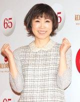 『第65回NHK紅白歌合戦』のリハーサルに参加した水森かおり (C)ORICON NewS inc.