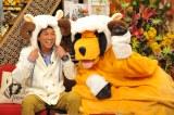 まんまちゃんも今年の干支のひつじのかぶりものでお正月気分。1月2日放送『新春大売り出し!さんまのまんま』(C)関西テレビ
