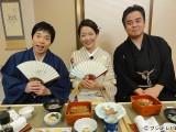 1月4日放送、フジテレビ『東京落語歩き』に出演する(左から)今田耕司、羽田美智子、立川談春