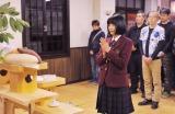 日本テレビ系連続ドラマ『学校のカイダン』好スタート祈願を行う広瀬すず (C)日本テレビ