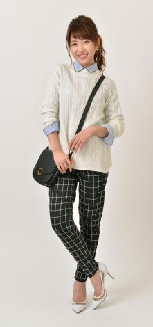『吉野家くみっきーファッション』を実際に着用した舟山久美子
