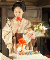 28歳の誕生日を祝う井上真央=大河ドラマ『花燃ゆ』取材会 (C)ORICON NewS inc.