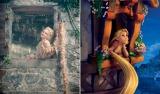 『イントゥ・ザ・ウッズ』ラプンツェル(左)とアニメーションのラプンツェル(右)(C)2015 Disney Enterprise,inc. All Rights Reserved.