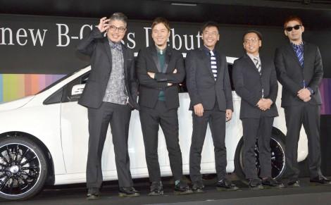 メルセデス・ベンツ『The new B-Class』プレス発表会に出席したRIP SLYME(左からRYO-Z、ILMARI、SU、PES、FUMIYA) (C)ORICON NewS inc.
