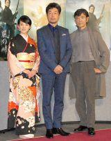 (左から)桜庭ななみ、柴田恭兵、中村雅俊 (C)ORICON NewS inc.