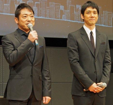 TBS系ドラマ『流星ワゴン』完成披露特別試写会に出席した(左から)香川照之、西島秀俊 (C)ORICON NewS inc.