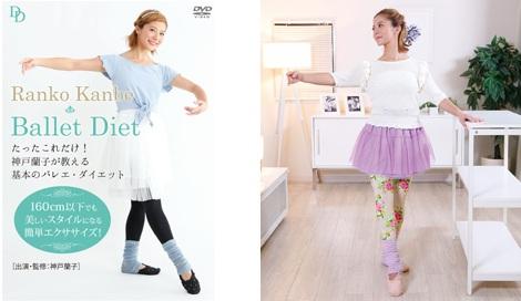 サムネイル 神戸蘭子がダイエットDVDでバレエの基本姿勢をレクチャー
