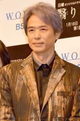 WOWOWオリジナルドラマ『連続ドラマW 翳りゆく夏』完成披露舞台あいさつに出席した時任三郎