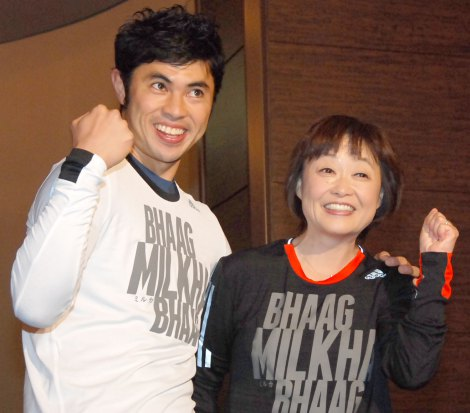 映画『ミルカ』公開記念試写イベントに出席した(左から)小島よしお、増田明美 (C)ORICON NewS inc.