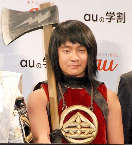 """""""金太郎""""役の不満を漏らした濱田岳=『au発表会 2015 Spring』 (C)ORICON NewS inc."""
