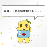 花粉症になってしまった千葉県船橋市の非公式ご当地キャラクター、ふなっしー