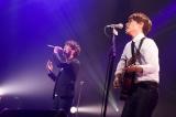 デビュー1周年記念ライブを行ったUSAGI(左から上田和寛、杉山勝彦)