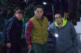 テレビ東京系ドラマ『三匹のおっさん2』前シーズンに続いて真冬の撮影に臨んでいる(左から)泉谷しげる、北大路欣也、志賀廣太郎。放送は4月(C)テレビ東京