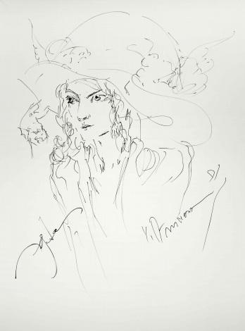 天野喜孝氏によって描かれたHYDEのライフペインティング