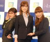 元モーニング娘。の矢口真里にコメントした(左から)高橋愛、吉澤ひとみ、保田圭 (C)ORICON NewS inc.