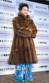 毛皮のコートに身を包むデヴィ夫人=東急プラザ渋谷『タイムスリップギャラリー』オープニング式典に出席したデヴィ夫人 (C)ORICON NewS inc.