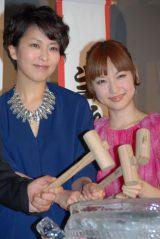 映画『アナと雪の女王』イベンに登場した松たか子と神田沙也加 (C)ORICON NewS inc.