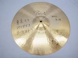 東京スカパラダイスオーケストラのドラマー茂木欣一は使用シンバル2枚をサイン入りで
