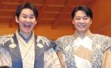 『現代狂言IX』公開げいこ&記者会見に出席した(左から)南原清隆、野村万蔵 (C)ORICON NewS inc.