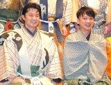 『現代狂言IX』公開げいこ&記者会見に出席したエネルギー(左から)平子悟、森一弥 (C)ORICON NewS inc.