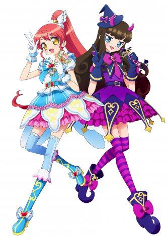 テレビアニメ『プリパラ』新シーズンから登場する新キャラクター。左は天使系アイドル・みかん、右は悪魔系アイドル・あろま(C)T-ARTS/syn Sophia/テレビ東京/PP2製作委員会