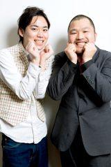 「あったかいんだからぁ」で大ブレイクのクマムシ(左から)佐藤大樹、長谷川俊輔(写真:西田周平)