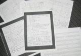 鈴木えみによる手書きの企画案、台割