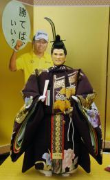 『今年の期待びな』がお披露目=松山英樹選手 (C)ORICON NewS inc.