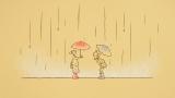 おばあちゃん2人の交流としあわせを描いた「履物と傘の物語」(C)NHK/南家こうじ