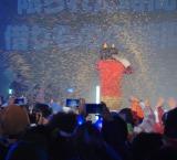 『すごい豆まき2015@東京タワースタジオ』で豆を投げられる堀江貴文 (C)ORICON NewS inc.