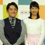 (左から)徳永圭一アナ、久保田祐佳アナ (C)ORICON NewS inc.