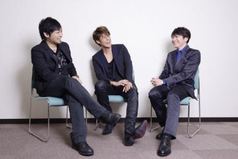 主人公を演じる宮野と、兄弟役で共演した中村と小野のインタビュー photo by Takako Kanai