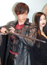 劇場版『牙狼<GARO>-GOLD STORM-翔』完成披露試写会に出席した栗山航 (C)ORICON NewS inc.