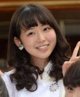 アンジュルムの新曲「大器晩成/乙女の逆襲」のヒット祈願に参加した勝田里奈 (C)ORICON NewS inc.