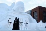 冬の一大イベント『第66回さっぽろ雪まつり』史上最大、『スター・ウォーズ/フォースの覚醒』公開記念「雪のスター・ウォーズ」大雪像が完成。オープニングセレモニーにダース・ベイダー登場