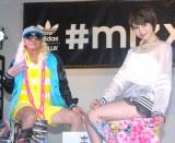 adidas Originals『mi ZX Flux Photo Print』サービス発表イベントに出席した(左から)DJ KOO、水沢アリー (C)ORICON NewS inc.