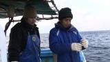 山本秀勝さんは長男・剛史さんと冬の海へ(C)テレビ朝日