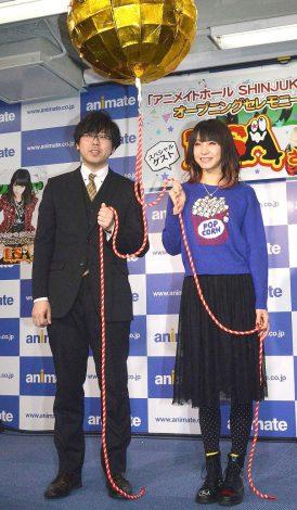 『アニメイトホールSHINJUKU』オープニングセレモニーに出席したLiSA(右) (C)ORICON NewS inc.